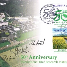First day cover, IRRI commemorative stamps v.1
