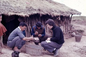 MTJ collecting cultivated potatoes in 1974