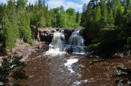 The upper falls at Gooseberry Falls State Park