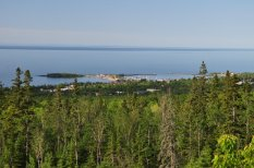 Overlooking Grand Marais and Lake Superior