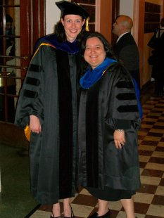 Hannah and her PhD advisor, Prof Denise Ones