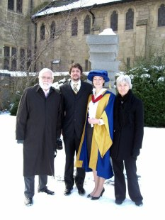 Phil's PhD graduation, December 2010