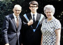 Graduation at Southampton University, with my Mum and Dad, July 1970