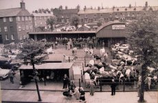 The old cattle market in the 1950s