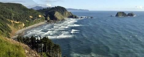 'Our' cove from Cape Mears
