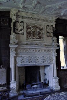 The original fireplace in the Great Chamber