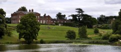 Dudmaston Hall, looking east across the Big Pool