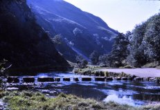The stepping stones in Dovedale