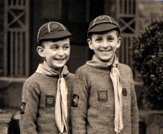 Me with my brother Ed (r) in our Cub uniforms in the late 1950s.