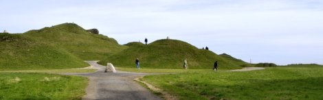 The first view of Northumberlandia.