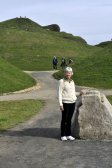 Entering Northumberlandia, with M'Lady's head behind.