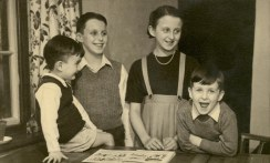 Taken in Congleton in about 1952 or so. L to R: Mike, Martin, Margaret and Edgar