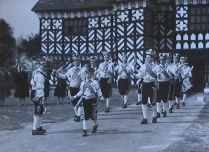 The Manley Morris Men at Little Moreton Hall on 8 May 1954.