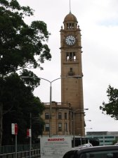 Clock tower over Sydney railway station