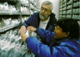 Inside the International Rice Genebank, with genebank manager Pola de Guzman