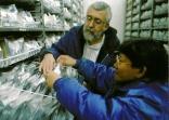 Inside the International Rice Genebank, with genebank manager Pola de Guzman