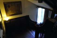The main staircase, leading also to the attic.