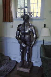 Suit of armor in the great hall.