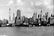 New York skyline in the early 1930s