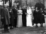 Wedding of John and Barbara Walker in 1941. Healy parents are on the left, with Pat next to them