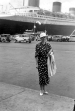 Visiting the SS Normandie in New York