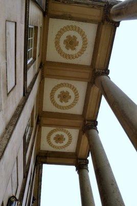 The main entrance portico