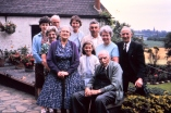 60th wedding anniversary, L to R: my sister Margaret, Wynne, Cyril, Grandma, Gwen (Bill's wife), Angela, Bill, Grandad, my mum, my dad.
