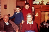 With Grandma and Grandad, and my elder brother Edgar, late 50s.