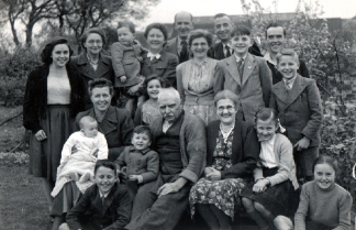 At Hollington in 1949. I'm the babe-in-arms!