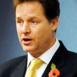 Leader of the LibDems, Nick Clegg