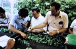 Ing. Luis Fernando Cartin, Costa Rican national potato program leader in the 1970s, on the right.