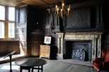 On the ground floor - an implressive alabaster fireplace with the initials RL - Robert Leicester