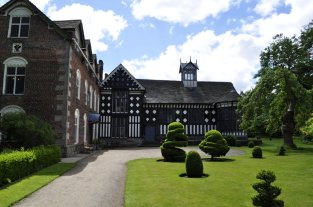Rufford Old Hall is an L-shaped building.