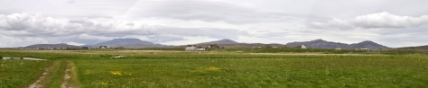 Machair and mountains at Garrynamonie South Uist