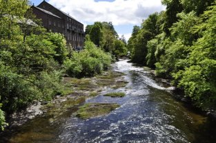 Former textile mills along the River Ericht in Blairgowrie