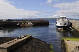 The Orkney ferry in John o' Groats harbour