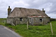 A typical thatched croft cottage.