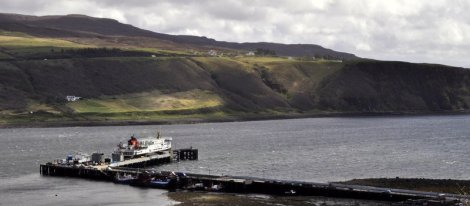 The ferry in Uig harbour, Isle of Skye