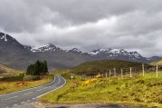 Flaming June - with snow still on the mountains, some of it quite recent