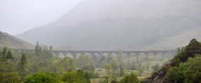 The Glenfinnan Viaduct from the top of the Glenfinnan Monument.
