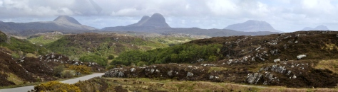 South on A837 Lochinver to Loch Assynt