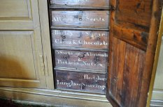 The spice cupboard, the key to which was closely guarded by the housekeeper.