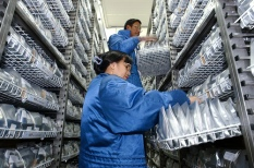 Aluminium foil packs are used for rice accessions in the IRG Active Collection.