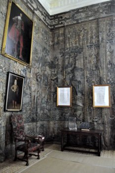 The Gideon Tapestries at the north end of the Long Gallery.