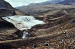 A mineral flow high in the Andes.