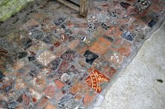 Tiles on the floor of the West Front (13th century).