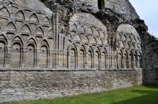 Detail of the walls in the Chapter House.