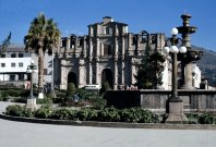 The cathedral in Cajamarca's Plaza de Armas.