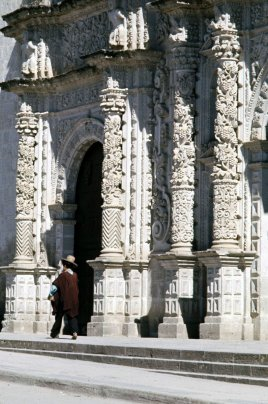Detail of the stonework on the cathedral.