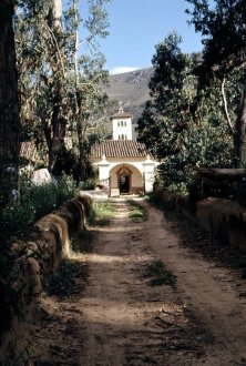 Entrance to the finca occupied by the British veterinary team.